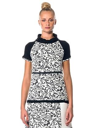Eccentrica Mini Vestido MC (blanco/negro)