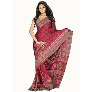 RED MOSCRAPE Bandhej Saree : WS5612/S1