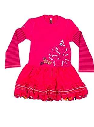 Cattimini Vestido Bordado (frambuesa)