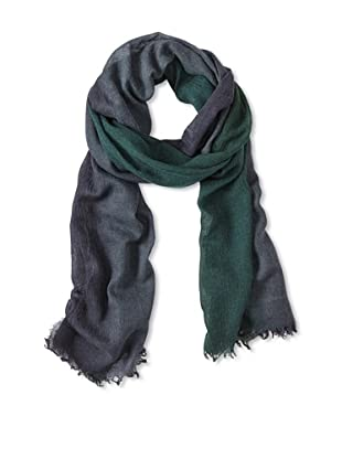 Les Copains Women's Scarf with Fringe (Bottle Green/Navy)