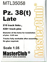 Master Club 1:35 Wwii Panzer Pz. 38(T) Late White Metal Workable Tracks #Mtl35058