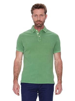 Cortefiel Polo Piqué Tinte Prenda Sun Fa (Verde)