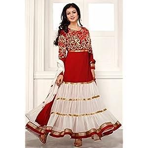 Ayesha Takia White and Red Anarkali Suit