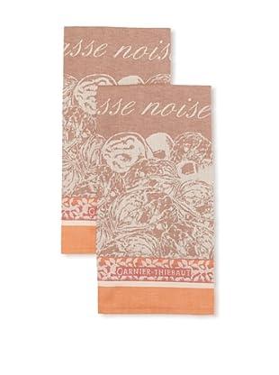 Garnier-Thiebaut Set of 2 Casse-Noisette Automnale Kitchen Towels