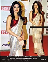 Bollywood Priyanka Chopra Screen Awards Beige Replica Saree