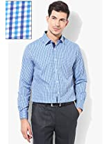 Blue Check Slim Fit Formal Shirt Peter England