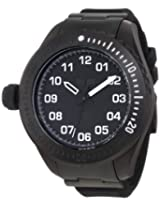Vestal Men's ZR4003 ZR-4 Stainless Steel and Silicone Matte Black Diving Watch