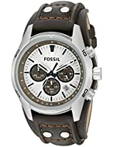 Fossil Cuff Chronograph white Dial Men's Watch - CH2565