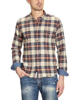 Cottonfield Hemd (lachs/blau)