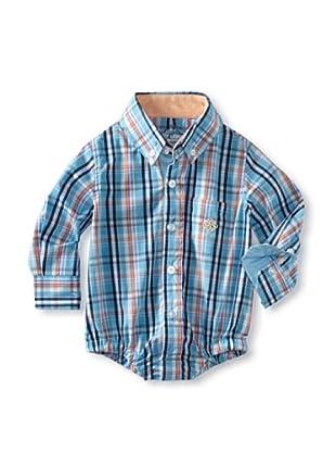 Andy & Evan Baby Boys Shirtzie (Teal Plaid)