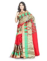 Fashion Studio Art Silk Saree (Bnrs67 _Multi-Coloured)
