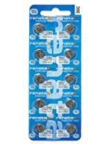 Renata Batteries 395 / SR927SW Button Cell, Swiss Made (Set of 2 Pcs)