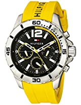Tommy Hilfiger Men's 1791144 Cool Sport Stainless Steel Watch with Yellow Band