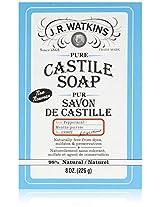 J.R. Watkins Pure Castile Bar Soap, Peppermint, 8 Ounce