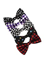 DBF0155 Classic Stain Pre-Tied Bowties Handmade Brand Multicolored 5 Pack Set Bow ties By Dan Smith