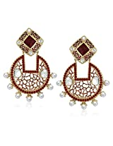 Meenaz Traditional Earrings Fancy Party Wear Kundan Moti Pearl Daimond Earrings For Women - TR172
