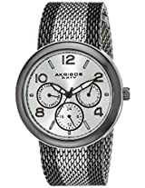 Akribos XXIV Women's AK559BK Stainless Steel Mesh Bracelet Watch