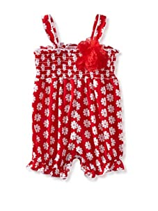 Baby Nay Smocking Balloon Romper (Red Clover)