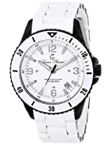 Lucien Piccard Men's LP-93608-BB-22 Moccasino Analog Display Swiss Quartz White Watch