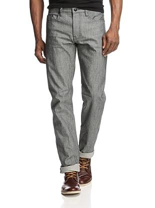 Denim & Leathers by andrew Marc Men's Tweed Raw Wash Jean (Grey)