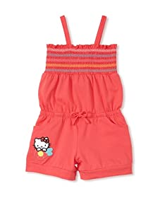 Hello Kitty Girl's 2-6X Shirred Romper with Applique Patch (Paradise Pink)