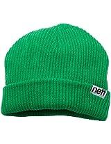 neff Men's Fold Beanie, Green, One Size