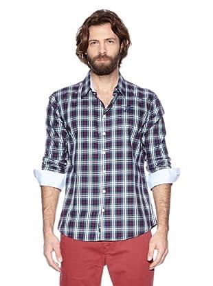 NZA New Zealand Auckland Camisa Básica Helisonte (Marino / Rojo)
