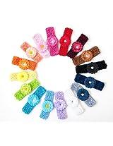 Ema Jane - Small Gerber Daisy Flowers on Crochet Headbands