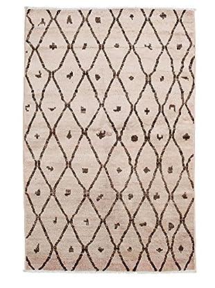 Darya Rugs Moroccan Oriental Rug, Open Orange, 4' 1