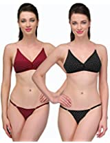Urbaano Captivating Bikini set - UR7095C - Black & Maroon (32)