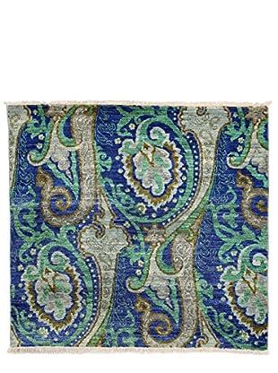 Darya Rugs Suzani Oriental Rug, Blue, 3' 8