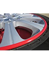 2009-2012 HYUNDAI GENESIS / GENESIS COUPE Rim Guards Red Alloy Armor Wheel Rim Curb Scratch Protection Strips 2010 2011 09 10 11 12
