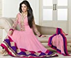 Sonal chauhan in pink floor length anarkali suit