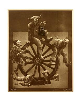 Wagon Wheel by Jordi Arko, Black/White/Grey