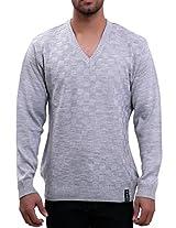 Lamode Grey Colour Lamode Sweater(LA00222XL-G_Grey_X-Large)