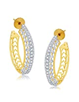 Sukkhi Encrusted Gold And Rhodium Plated CZ Hoops For Women