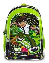 Ben 10 Polyester Children's Backpack (LG B10 1501 VXL-GREEN)