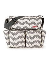 Skip Hop Dash Messenger Diaper Bag, Grey/Off White