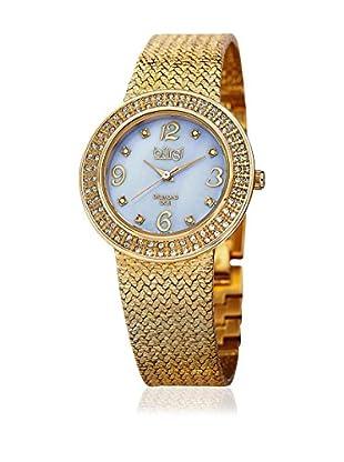 Bürgi Uhr mit Schweizer Quarzuhrwerk BUR097YG goldfarben 33  mm