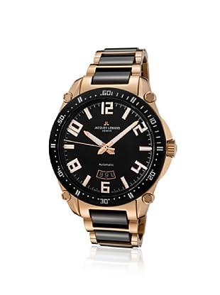 Jacques Lemans Men's GU333E Geneve Rose Stainless Steel & Ceramic Watch