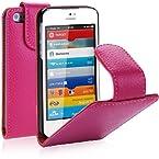 i-Blason Apple New iPhone 5S / iPhone 5 Genuine Leather Flip Case AT&T / Verizon / Sprint / T-Mobile CDMA GSM Version - Pink