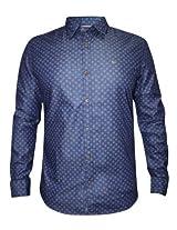 Numero Uno Blue Casual Printed Shirt
