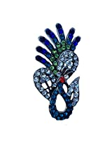 B-Fashionable Posing Peacock Brooch for -BR-12