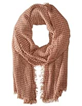 Saro Lifestyle Women's Houndstooth Design Shawl, Mauve, One Size