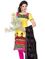 Cenizas Women Chiffon Dress Material Dress Material (Chtra522 _Multi-Coloured _Free Size)