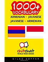 1000+ Armenian-javanese Javanese-armenian Vocabulary
