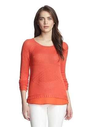 Dex Women's Longsleeve Sweater with Back Zip (Soft Tangerine)