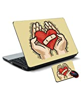 Printland Vinyl Laptop Skin Size 15.6 x 10 Inches with Mouse Pad LS162940