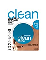 CoverGirl Clean Oil Control Pressed Powder, Soft Honey (W) 555, 0.35 Ounce Pan