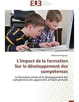 L Impact de La Formation Sur Le Developpement Des Competences (Omn.Univ.Europ.)